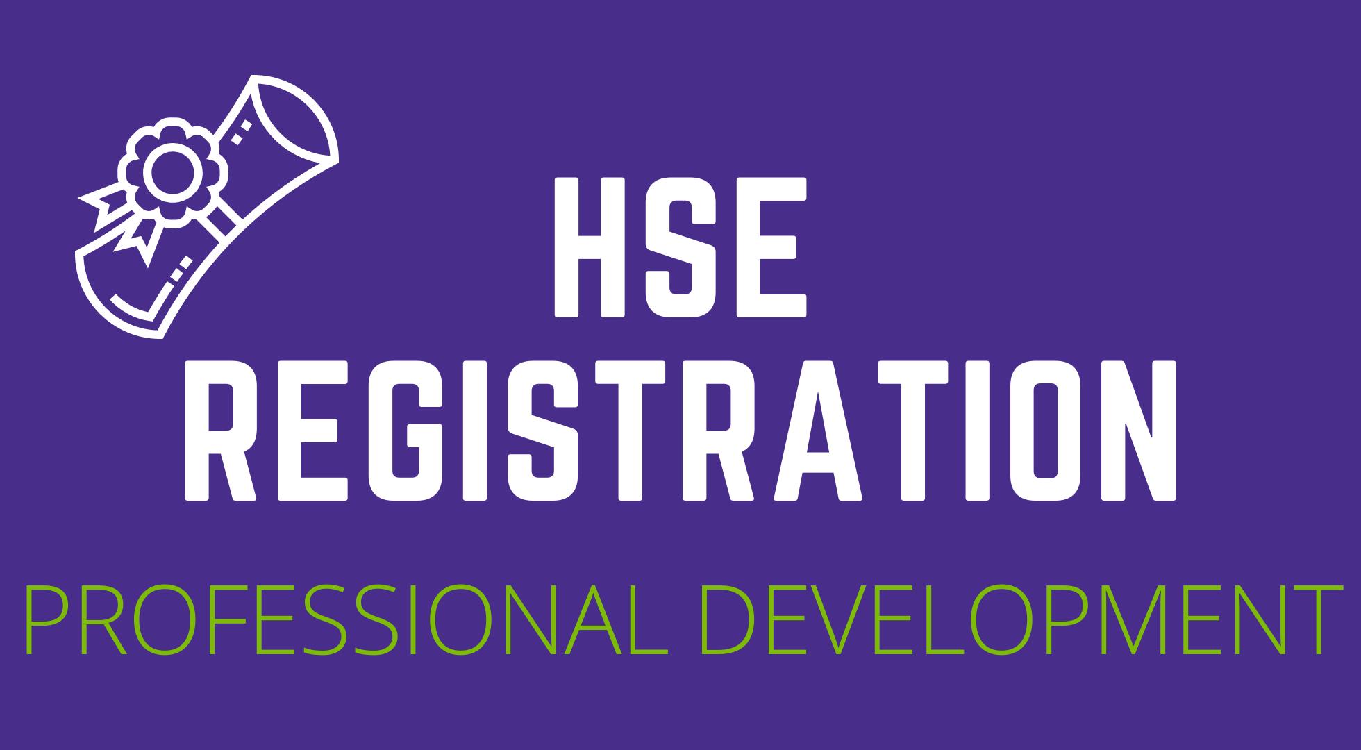 HSE Registration