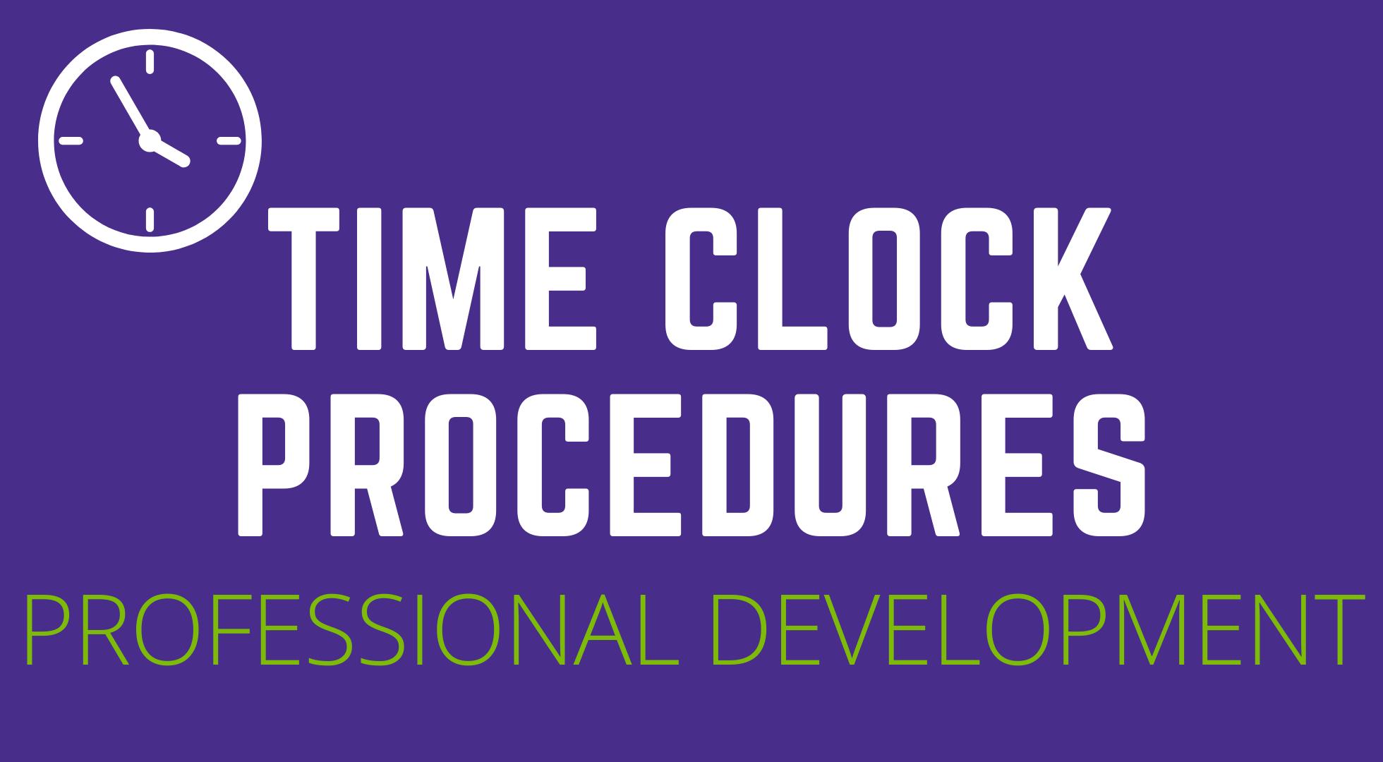 Time Clock Procedures